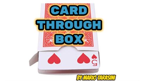 Card Through Box by Mario Tarasini...