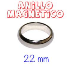 ANILLO MAGNÉTICO PLATA (22mm)