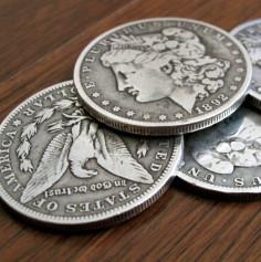 Steel Morgan Dollar Replica